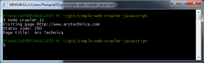 How to make a web crawler in JavaScript / Node js