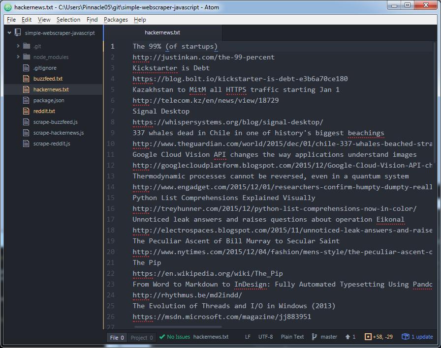 Super simple web scraping with Node js / JavaScript
